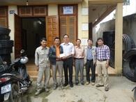 Công đoàn Công ty và Đoàn TN thăm CBCNV tại Dự án Yên Viên - Lao Cai
